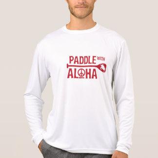 Kane Paddle with Aloha Rash Guard Red Tshirts