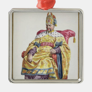 Kang Tsi (1662-1722) Manchu Emperor of China from Christmas Ornament