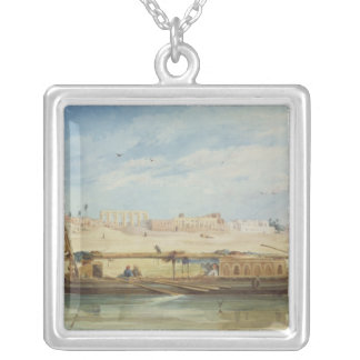 Kanga on the Nile at Luxor Silver Plated Necklace
