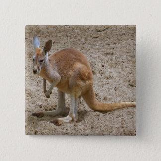 Kangaroo 15 Cm Square Badge