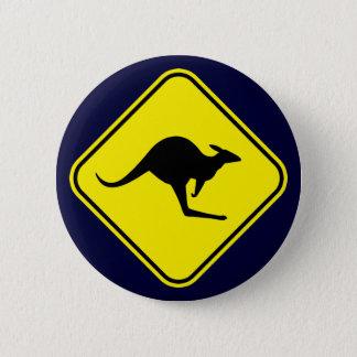 Kangaroo 6 Cm Round Badge