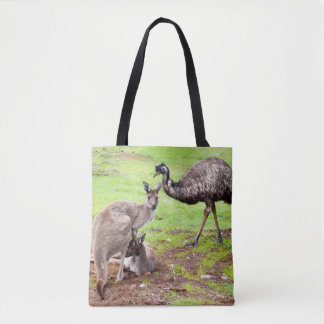 Kangaroo And Emu, Full Print Shopping Bag