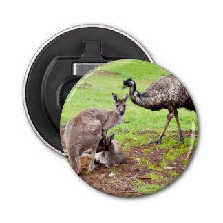 Kangaroo And Emu, Magnetic Bottle Opener. Bottle Opener