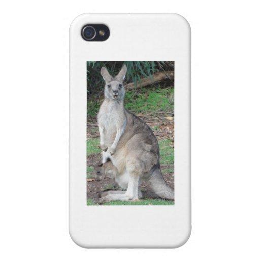 Kangaroo and Joey Covers For iPhone 4