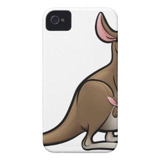 Kangaroo Animals Cartoon Character iPhone 4 Case-Mate Case