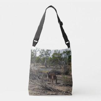 Kangaroo At Billabong Full Print Cross Body Bag