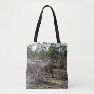 Kangaroo At The Billabong, Full Print Shopping Bag