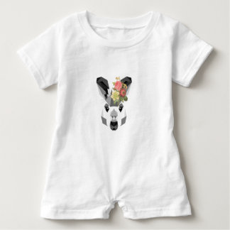 Kangaroo Baby Romper Floral Art Baby Bodysuit