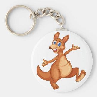 kangaroo basic round button key ring