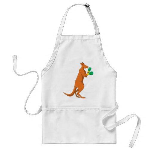 kangaroo boxer boxing retro apron