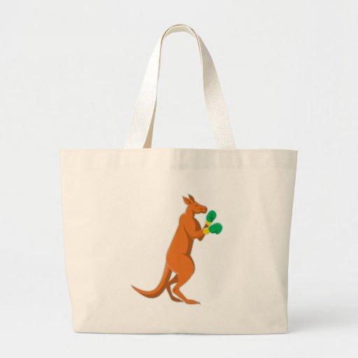 kangaroo boxer boxing retro bags