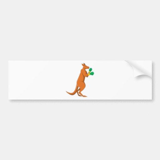 kangaroo boxer boxing retro bumper stickers