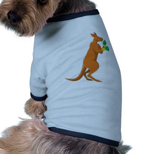 kangaroo boxer boxing retro pet clothing