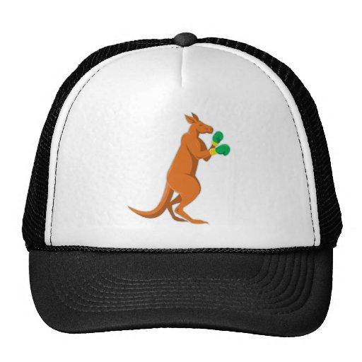kangaroo boxer boxing retro hat