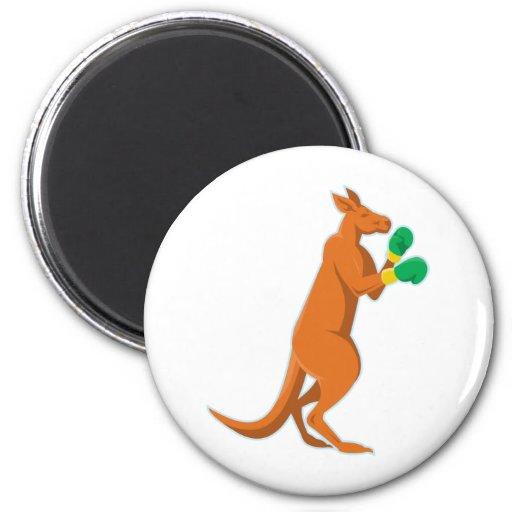kangaroo boxer boxing retro magnets