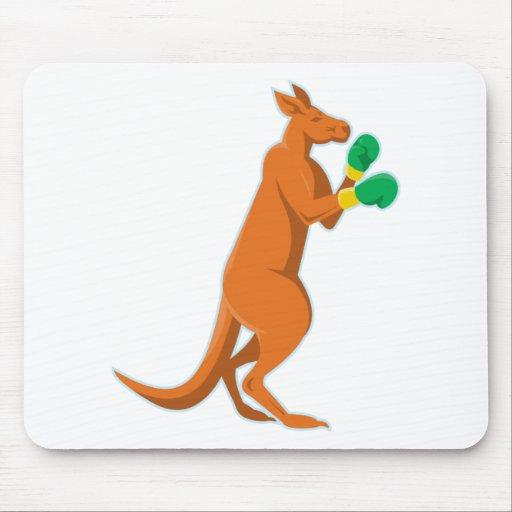 kangaroo boxer boxing retro mousepad