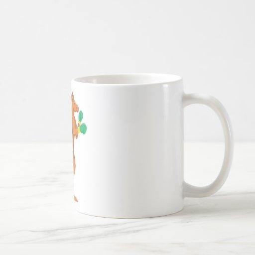 kangaroo boxer boxing retro coffee mugs