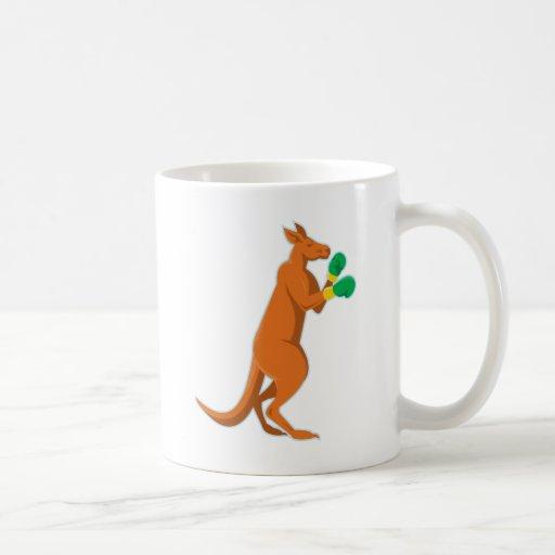 kangaroo boxer boxing retro mugs