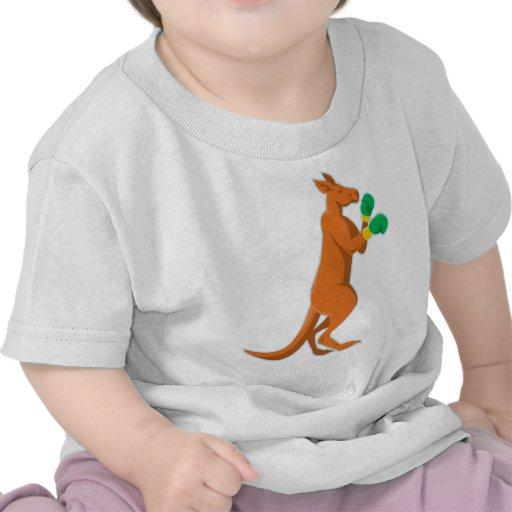 kangaroo boxer boxing retro tee shirts