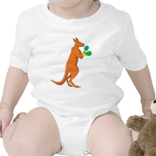 kangaroo boxer boxing retro t-shirt