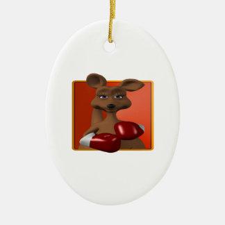 Kangaroo Boxer Christmas Ornament