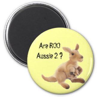 Kangaroo Collection 6 Cm Round Magnet