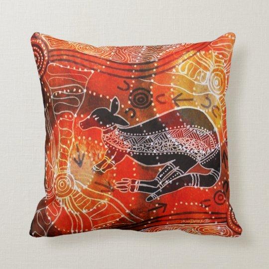 Kangaroo Corroboree Pillow Cushion
