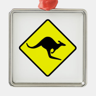 KANGAROO CROSSING - down under/oz/australia/aussie Christmas Ornament