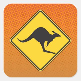 Kangaroo Crossing Sticker