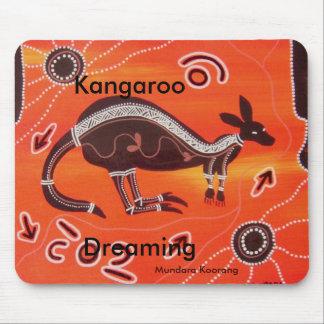 Kangaroo Dreaming Mouse Mat