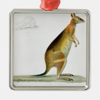 Kangaroo, engraved by Coutant Christmas Ornament