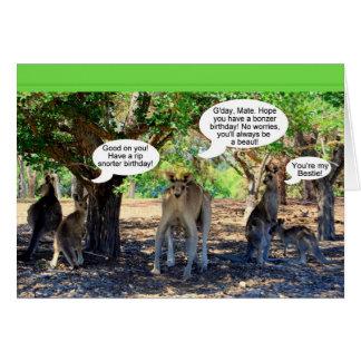 Kangaroo Family Happy Birthday Humor Cards