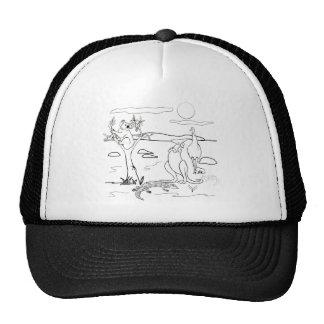 Kangaroo Friends Colour-In Mesh Hats