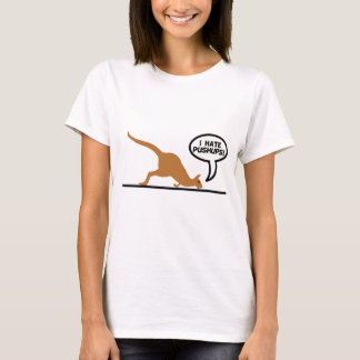 Kangaroo Hates Pushups T-Shirt