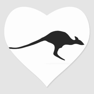 Kangaroo Heart Sticker