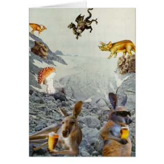Kangaroo Holiday Card