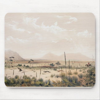 Kangaroo Hunt Mouse Pad