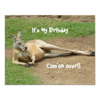 Kangaroo Invite Birthday Party