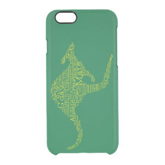 Kangaroo made of Australian slang Clear iPhone 6/6S Case
