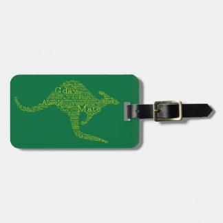 Kangaroo made of Australian slang Luggage Tag