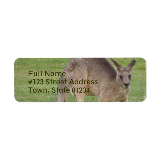 Kangaroo Mailing Label