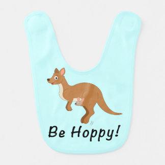 Kangaroo Mama and Baby: Be Hoppy! Bib