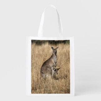 Kangaroo Mother and Baby Reusable Grocery Bag