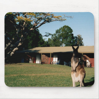 Kangaroo on the lawn mouse pad