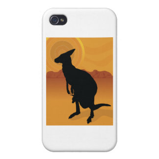 Kangaroo Outback iPhone 4 Cases