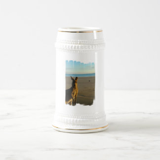 Kangaroo Photo Beer Mug