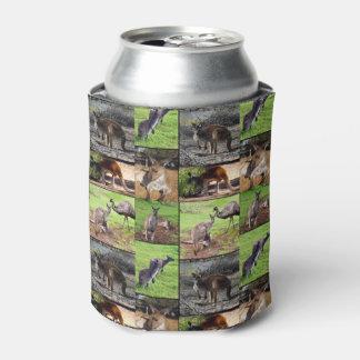 Kangaroo Photo Collage, Can Cooler