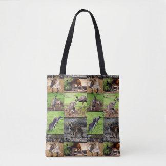Kangaroo Photo Collage, Full Print Shopping Bag. Tote Bag