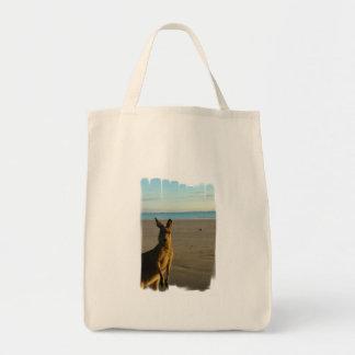 Kangaroo Photo Organic Grocery Tote Bag