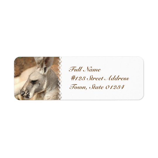 Kangaroo Profile Mailing Labels